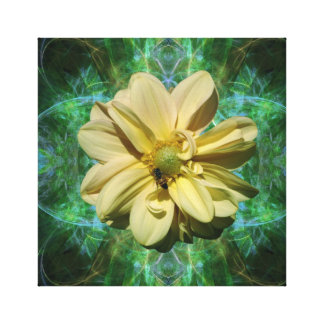 Yellow Dahlia flower and meaning Stretched Canvas Prints