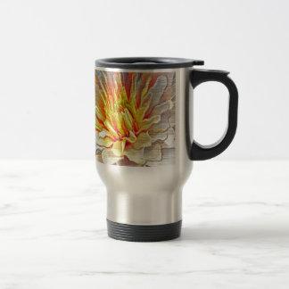 Yellow Dahlia Flower Pencil Sketch Travel Mug