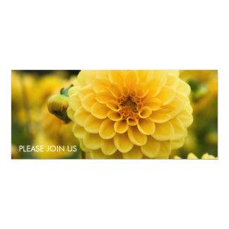 "Yellow Dahlia 4"" X 9.25"" Invitation Card"