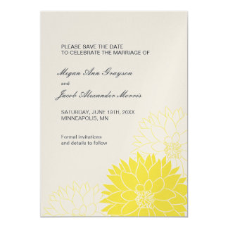 Yellow Dahlia on Gray Card