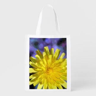 Yellow Dahlia Reusable Grocery Bag