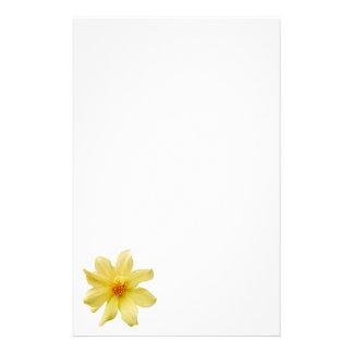 Yellow Dahlia Stationery Paper