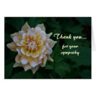 Yellow dahlia Thank you for your sympathy cards
