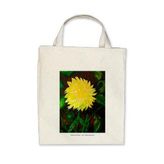 Yellow Dahlia TOTE Bags