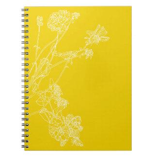 Yellow Dahlias Notebook