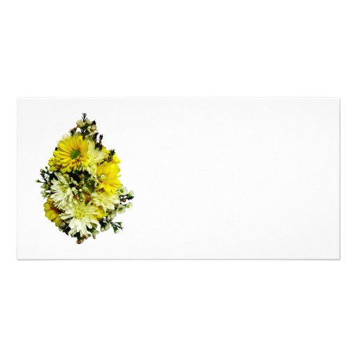 Yellow Daisies and White Mums Photo Card