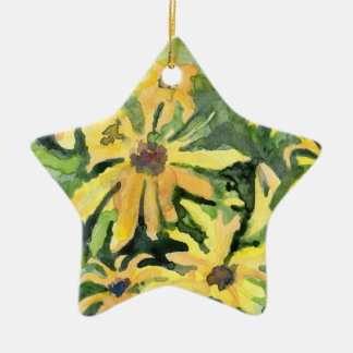 Yellow Daisies Christmas Ornament