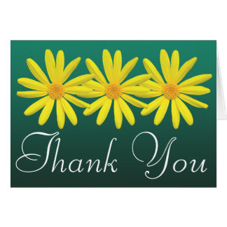 Yellow Daisies Colorful Photo Fun Floral Thank You Card