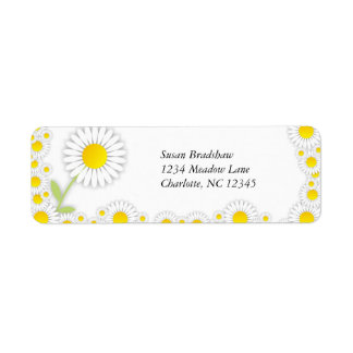 Yellow Daisies Daisy Trim Address Labels
