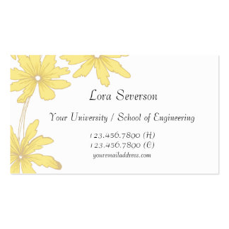 Yellow Daisies Graduate Pack Of Standard Business Cards