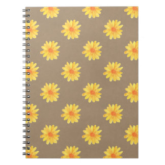 Yellow Daisies on Kraft Paper Notebook
