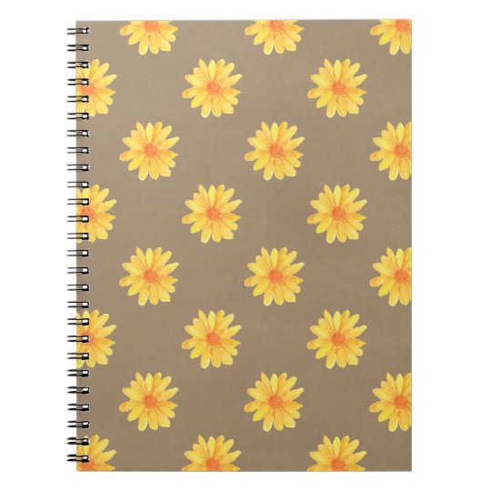 Yellow Daisies on Kraft Paper Notebook
