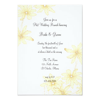 Yellow Daisies Post Wedding Brunch Invitation