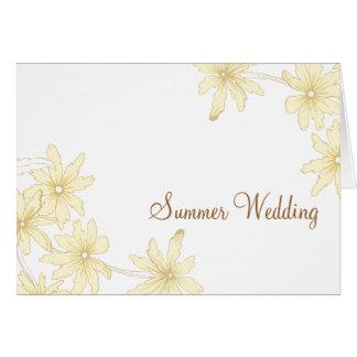 Yellow Daisies Summer Wedding Announcement