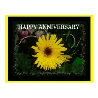 Yellow daisy anniversary post cards
