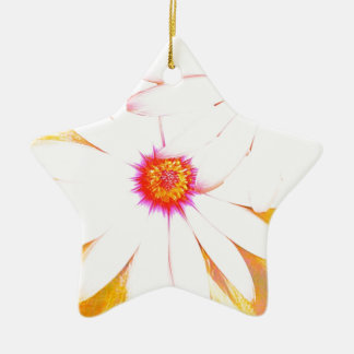 yellow daisy christmas ornament