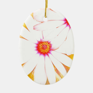 yellow daisy christmas ornament