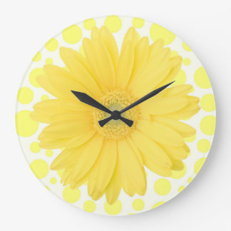 Yellow Daisy Clock