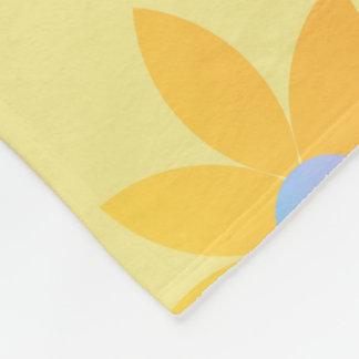 Yellow daisy design blanket