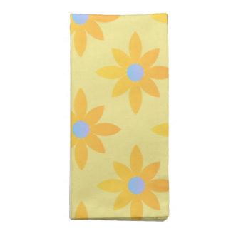 Yellow daisy design cloth napkins