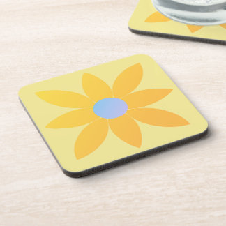 Yellow daisy drink coaster set