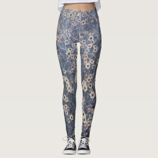 YELLOW DAISY FIELD by Slipperywindow Leggings