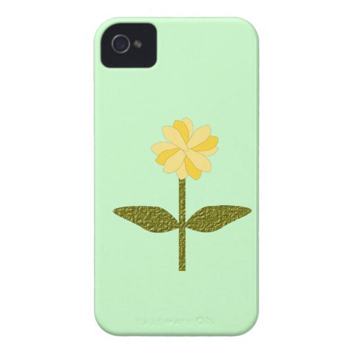 Yellow Daisy Flower Blackberry Bold Case iPhone 4 Covers