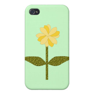 Yellow Daisy Flower  Case For The iPhone 4