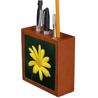 Yellow Daisy flower Desk Organiser