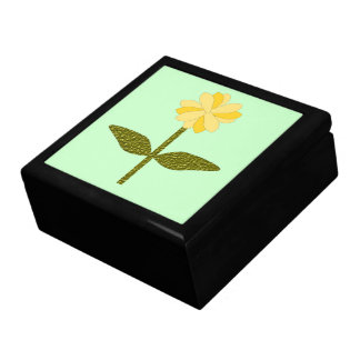 Yellow Daisy Flower Gift Box