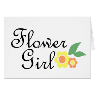 Yellow Daisy Flower Girl Greeting Card