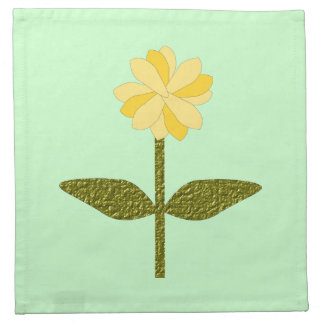 Yellow Daisy Flower Napkin