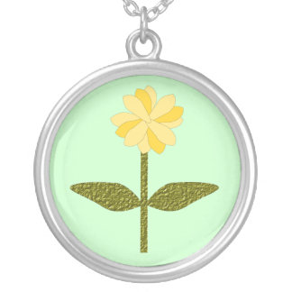 Yellow Daisy Flower Necklace