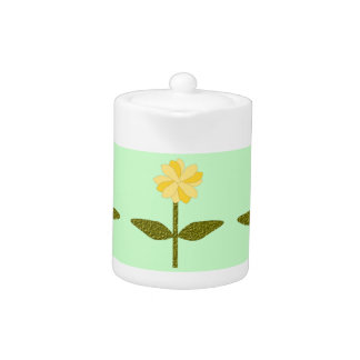 Yellow Daisy Flower Teapot