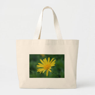 Yellow Daisy Flower With Garden Background Tote Bag