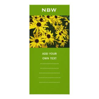 yellow daisy flowers custom rack cards