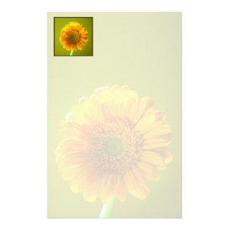 Yellow Daisy Gerbera Flower Stationery