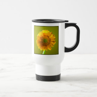 Yellow Daisy Gerbera Flower Travel Mug
