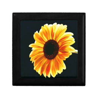 yellow daisy small square gift box