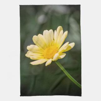 Yellow daisy kitchen towel