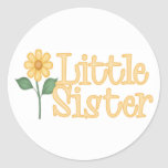 Yellow Daisy Little Sister Classic Round Sticker