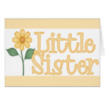 Yellow Daisy Little Sister Stationery Note Card