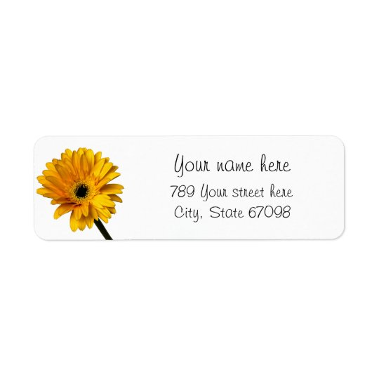 Yellow Daisy Return Address Labels