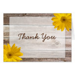 Yellow Daisy Rustic Barn Wood Thank You