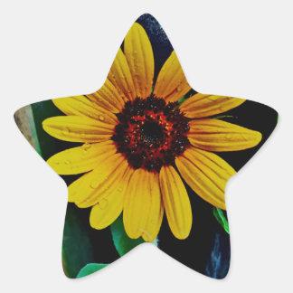 Yellow Daisy Star Stickers