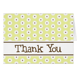 Yellow Daisy Thank You Note Cards