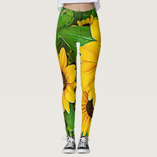Yellow Daisy Yoga Leggings