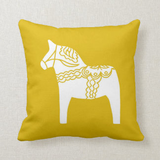 Yellow Dala Horse Cushion
