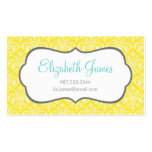 Yellow Damask Double-Sided Standard Business Cards (Pack Of 100)