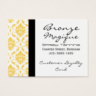 Yellow Damask Business Customer Loyalty Cards